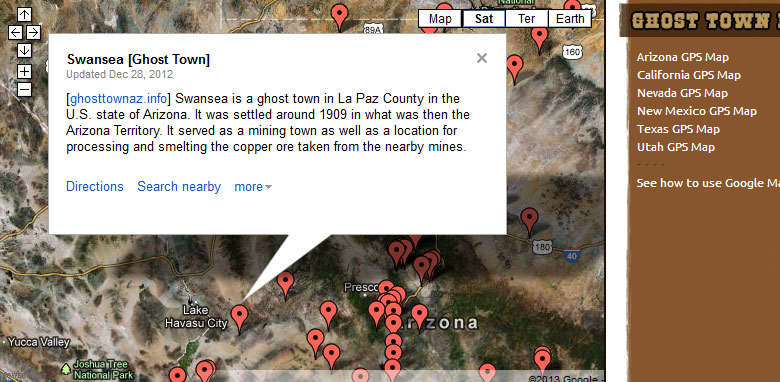 Ghost Towns Of Arizona Map Instructions Ghost Towns Of Arizona And